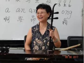 安徽省黄梅戏剧院时应远老师正在授课